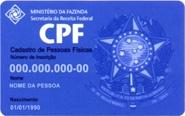 CPF -Comprovante de Situação Cadastral no CPF